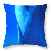 Blue On Blue Cropped Version Throw Pillow