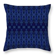 Blue On Blue Repeat Throw Pillow