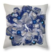 Blue One Throw Pillow