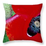 Blue Opium Throw Pillow