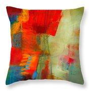 Blue Orange 1 Throw Pillow