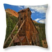 Blue Over The Yankee Girl Throw Pillow