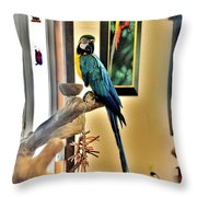 On The Perch Throw Pillow
