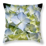 Blue Pastel Floral Art Prints Hydrangea Flowers Throw Pillow