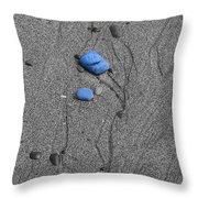 Blue Pebbles Throw Pillow
