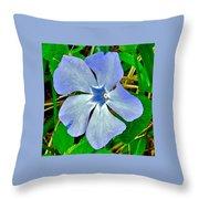 Blue Periwinkle In Rocca Al Mare Open Air Museum-estonia Throw Pillow