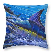 Blue Persuader  Throw Pillow