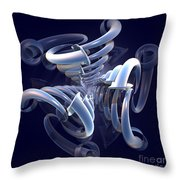 Blue Pipes Throw Pillow