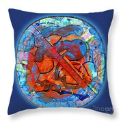 Blue Plate Throw Pillow