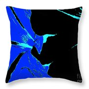 Blue Pop Flowers Throw Pillow