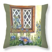 Blue Poppies Of Luss Throw Pillow