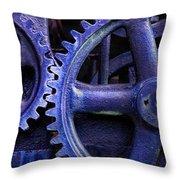 Blue Power Throw Pillow
