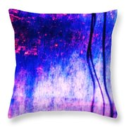 Blue Purple White Metal Throw Pillow