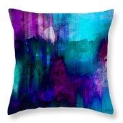 Blue Rain  Abstract Art   Throw Pillow