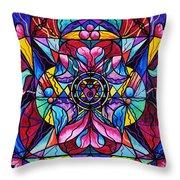 Blue Ray Healing Throw Pillow