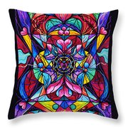 Blue Ray Healing Throw Pillow