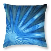 Blue Rays Throw Pillow