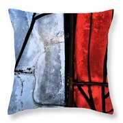 Blue Red And Blue Throw Pillow