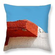 Blue Red And White Throw Pillow