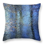 Blue Reflections Of The Patapsco River Throw Pillow