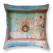 Blue Relic Throw Pillow