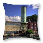Blue Ridge Dam Throw Pillow