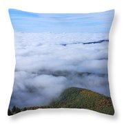Blue Ridge Fog Throw Pillow