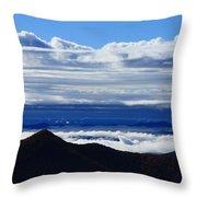 Blue Ridge Fog-north Carolina Throw Pillow