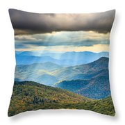 Blue Ridge Glory Throw Pillow
