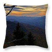 Blue Ridge Last Light Throw Pillow