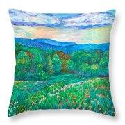 Blue Ridge Meadow Throw Pillow