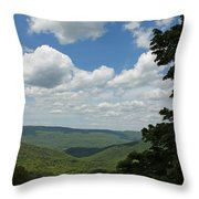 Blue Ridge Mountain Scenic - Craig County Va IIi Throw Pillow