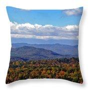 Blue Ridge Mountains 2 Throw Pillow