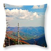 Blue Ridge Parkway Art-trees And Mountains Throw Pillow