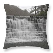 Blue Ridge Parkway Meandering Waters  Throw Pillow