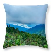 Blue Ridge Parkway National Park Sunrise Scenic Mountains Summer Throw Pillow