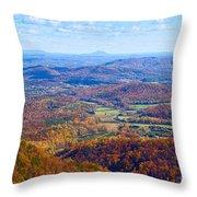 Blue Ridge Parkway Overlook Throw Pillow