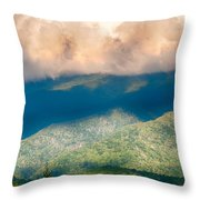 Blue Ridge Parkway Scenic Mountains Overlook Summer Landscape Throw Pillow
