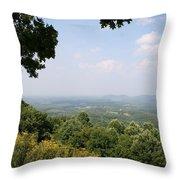 Blue Ridge Parkway Scenic View Throw Pillow