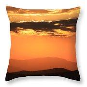 Blue Ridge Parkway Sunset-north Carolina Throw Pillow