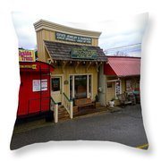 Blue Ridge Store Fronts Throw Pillow
