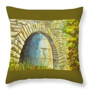 Blue Ridge Tunnel Throw Pillow