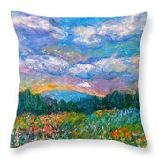 Blue Ridge Wildflowers Throw Pillow