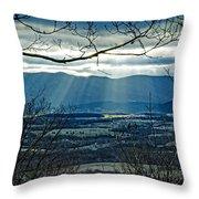 Blue Ridge Winter Solstice 2012 Throw Pillow