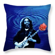 Blue Ripple From A Red Rose Throw Pillow