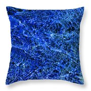 Blue Rippling Water Pattern Throw Pillow