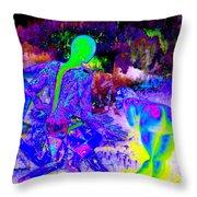 Blue Rock 'n' Roll Throw Pillow