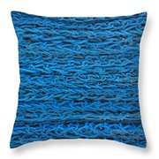 Blue Rope Stack Throw Pillow