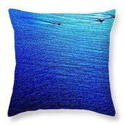 Blue Sand Abstract Throw Pillow