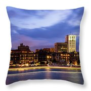 Blue Savannah Throw Pillow